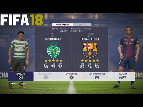 FIFA 18 (PS4 Pro) Sporting Lisbon v Barcelona UEFA CHAMPIONS LEAGUE 27/09/2017 PREDICTION SIM 1080P