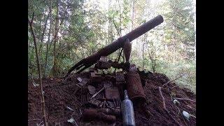 Коп по войне на немецких позициях, найден миномет