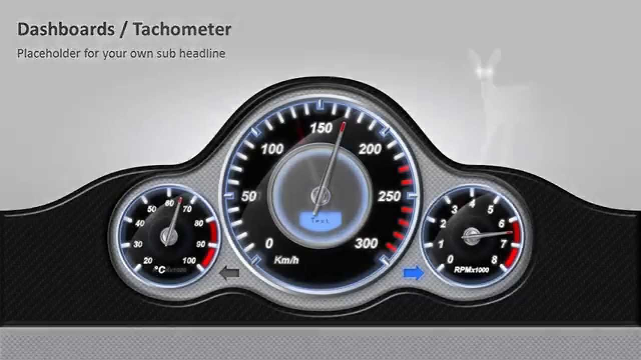 powerpoint dashboards tachometer - youtube, Powerpoint templates