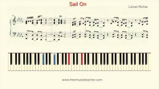 "How To Play Piano: Lionel Richie ""Sail On"" Piano Tutorial by Ramin Yousefi"