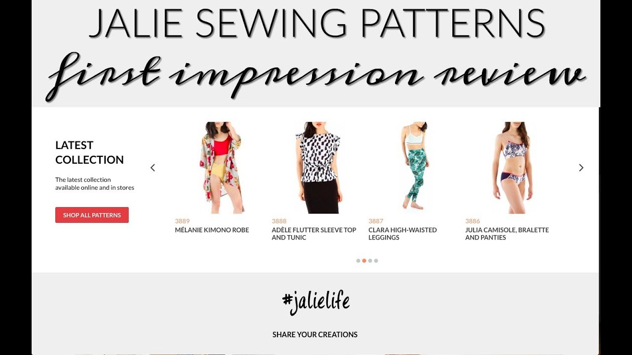 Video Jalie Sewing Patterns First Impression Review