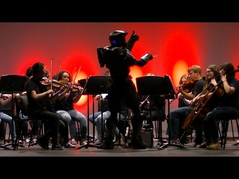 Master Chief Conducts The Halo Theme