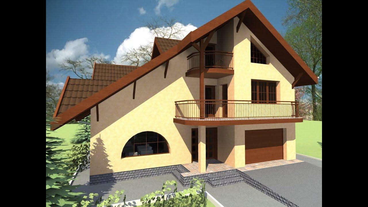 Proiect de casa cu mansarda casa b63 arhitect anca vasile for Youtube case cu mansarda