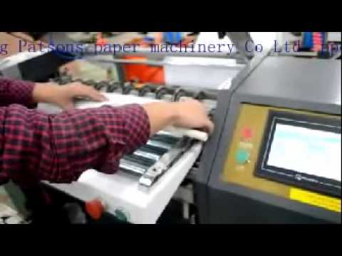 Automatic POS thermal paper roll slitter&rewinder with auto core loader
