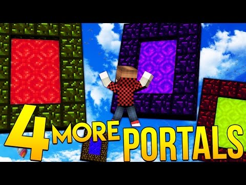 4 MORE Portals In The Minecraft Rainbow Dimension