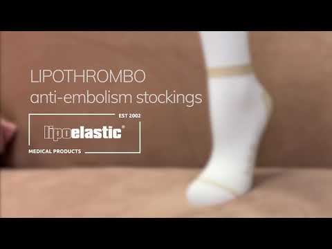 How to put on Lipothrombo anti-embolism stockings, by LIPOELASTIC