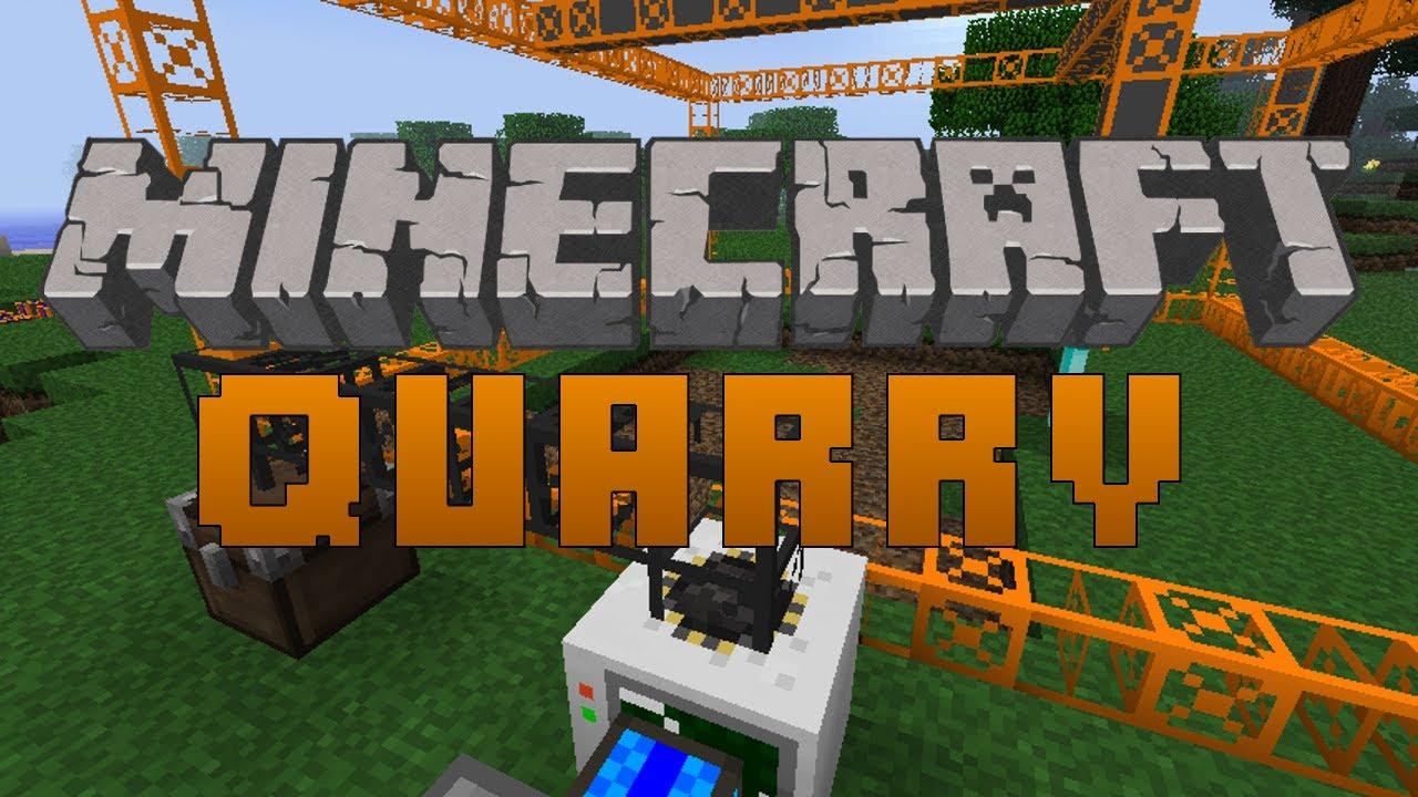 Minecraft BuildCraft Tutorial How to Create a Quarry (BuildCraft