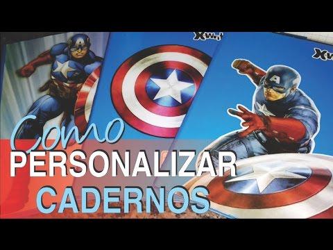 DIY: Como PERSONALIZAR CADERNOS para Criançada!!