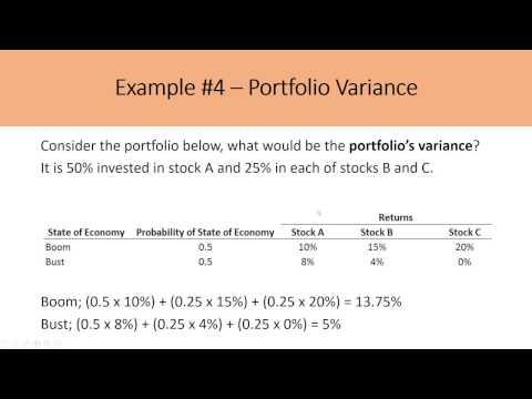 Calculating Expected Portfolio Returns and Portfolio Variances