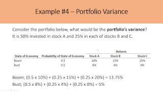 Calculating Expected Portfolio Retขrns and Portfolio Variances
