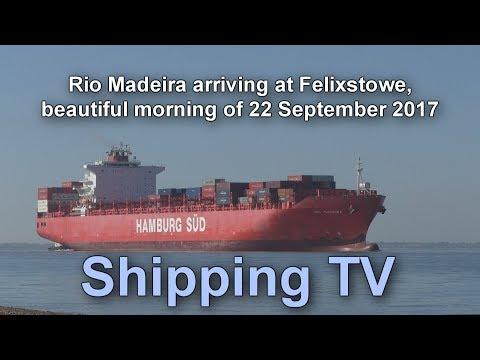 Rio Madeira arrives at Harwich Harbour for Felixstowe, 22 September 2017