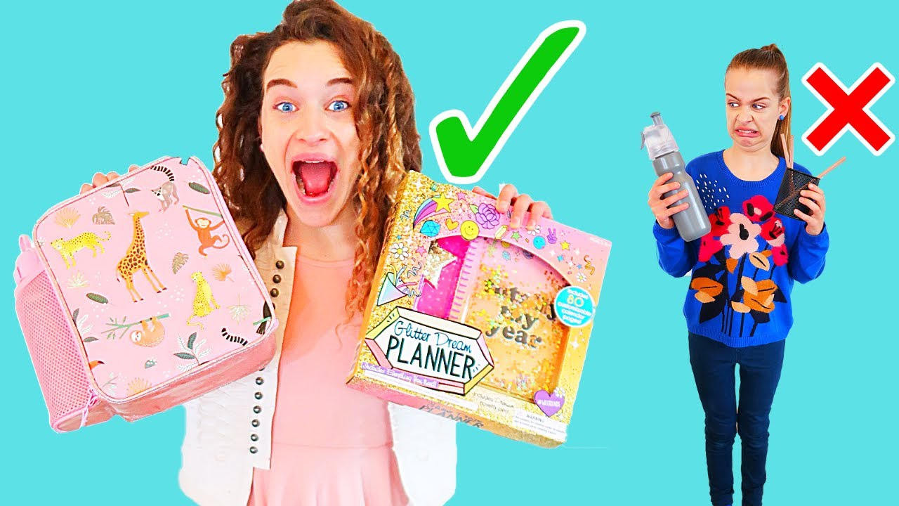 MYSTERY BOX OF SCHOOL SUPPLIES Challenge By The Norris Nuts