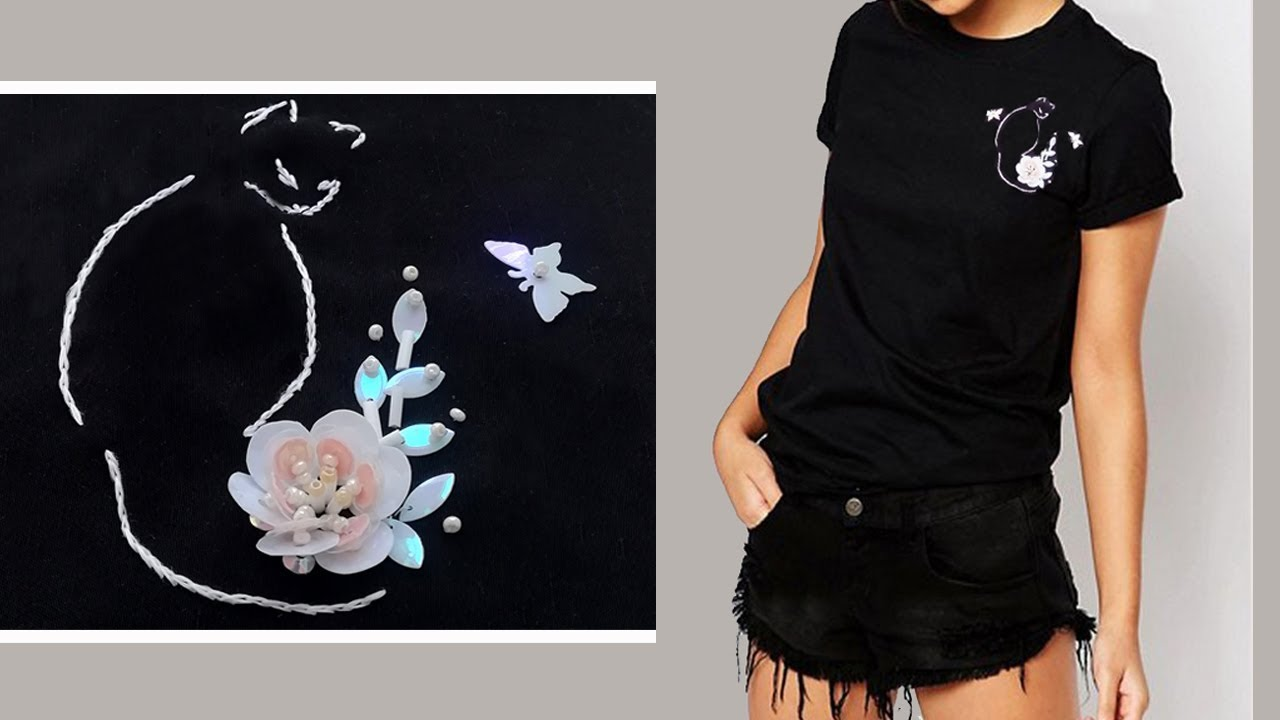 Beadwork   Sequin flower  Вышивка бисером: Цветок из пайеток
