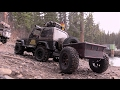 Scale Town trailer trailing with the new MST CFX chassis and Camo TF2 RC CWR