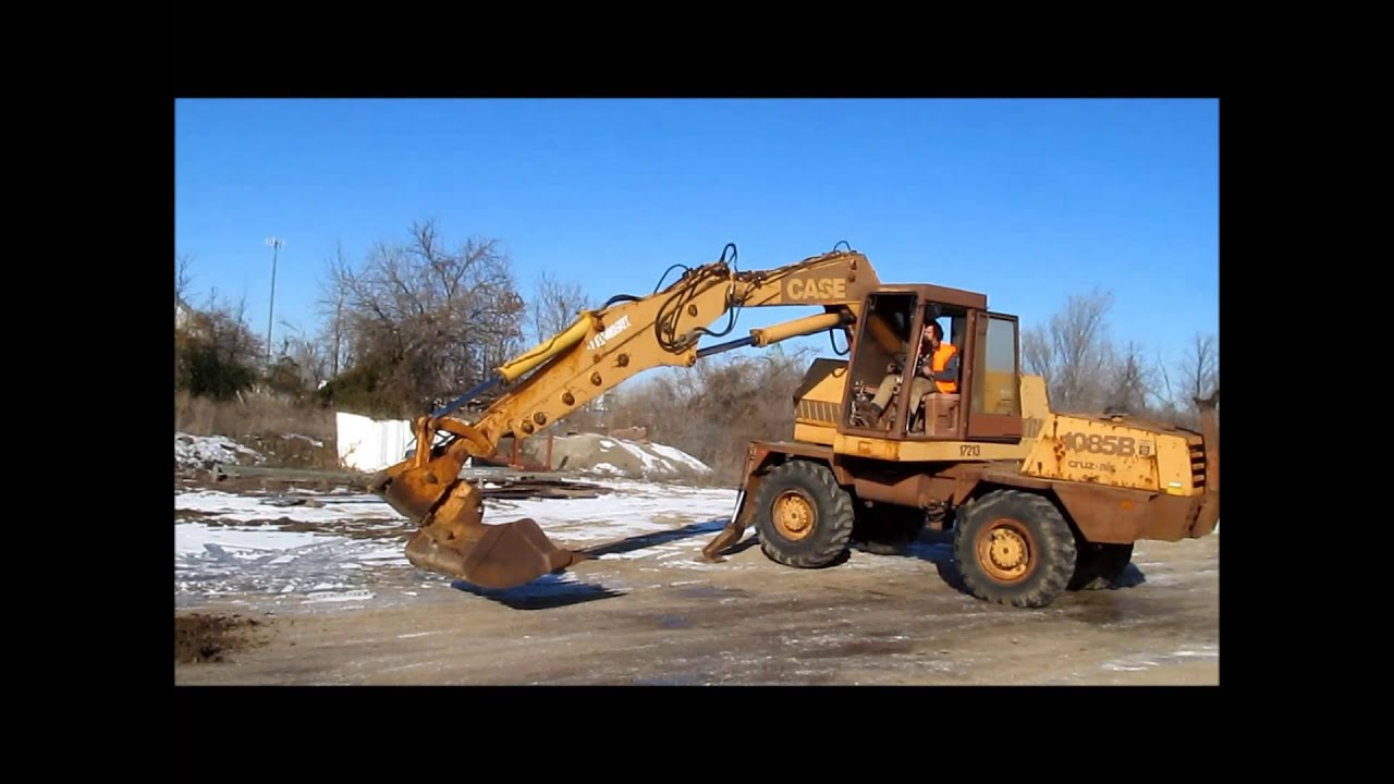 1985 Case 1085b Cruz Air Mobile Excavator For Sale Sold