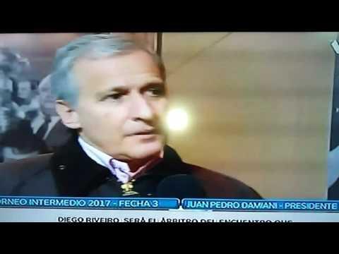 Entrevista a damiani por los jugadores Valverde y bueno