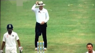 Umpire Chris Gaffaney's brain fade (give Pujara scare - funny) - IND VS AUS, 3rd test, fans reaction