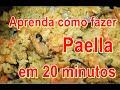 Aprenda como fazer paella em 20 minutos