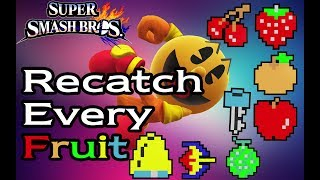 [SSB4] PAC-MAN - Recatch Every Fruit Guide (Smash Wii U/3DS)