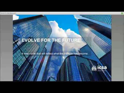 Evolve for the Future - A New Name for ICSA