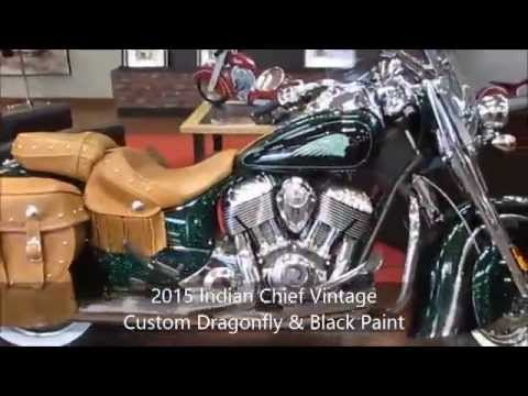 2015 Indian Chief Vintage Custom Paint Dragonfly Green Black