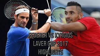 Roger Federer Vs Nick Kyrgios - Laver Cup 2017 (Highlights HD)