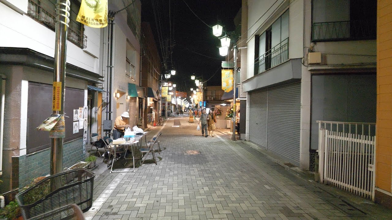 【4K】Night walk in Nerima city, Tokyo