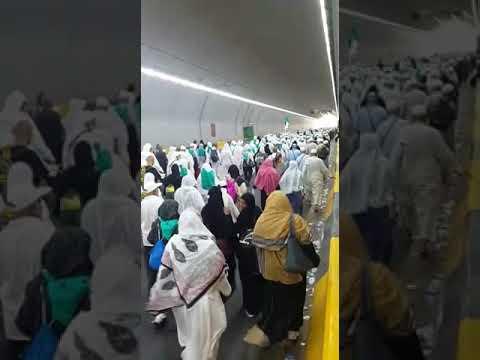 Walking Through Tunnel To Makkah