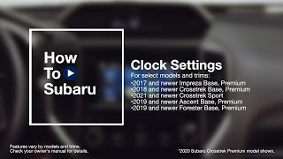 homepage tile video photo for How to Set the Clock in Your Subaru Vehicle (Black & White LCD)