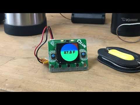 BBQLUE Remote Temperature Sensor demo @adafruit @johnedgarpark #adafruit