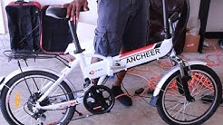 """Electric Bike E-Bike FOR $500 - ANCHEER 20"""" Folding Bike - Unboxing Assembly and Test Ride - Ebay"""