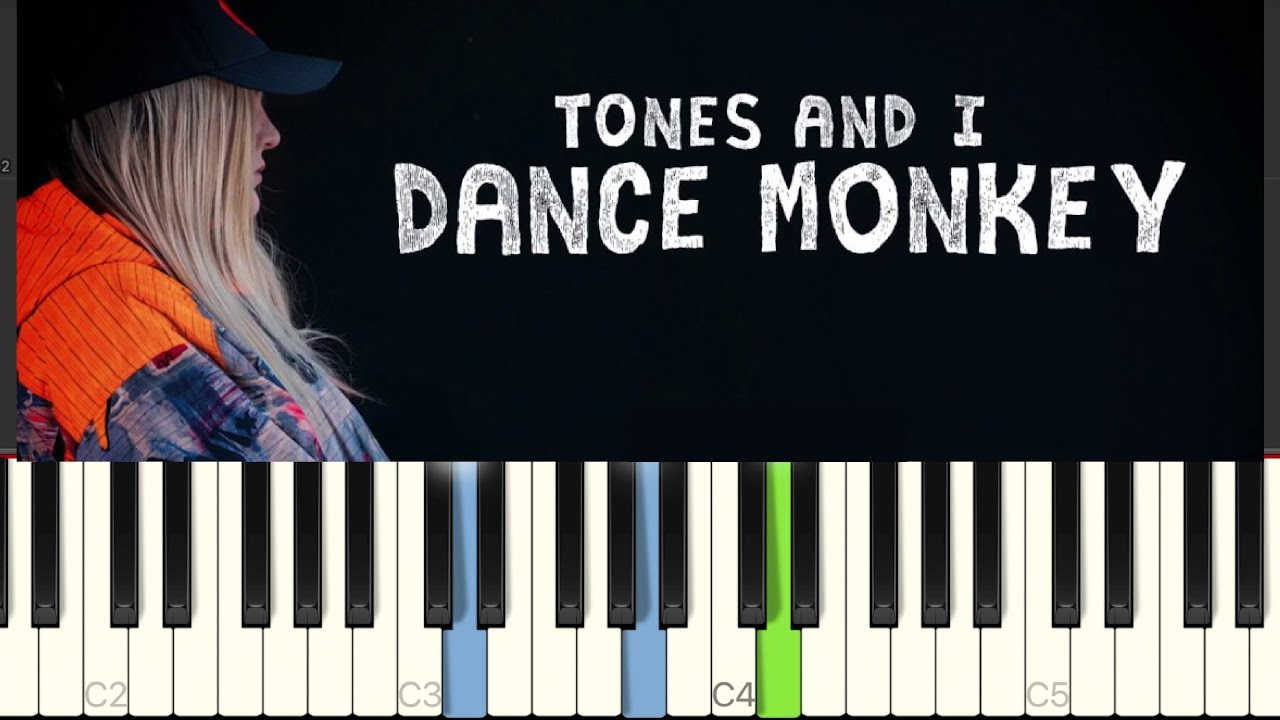 Dance Monkey Easy Piano Tutorial Tones And I Youtube