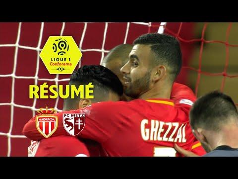 AS Monaco - FC Metz (3-1)  - Résumé - (ASM - FCM) / 2017-18