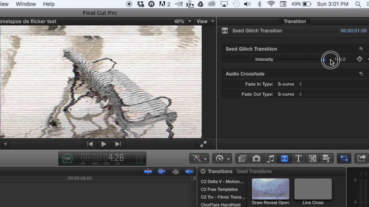 FREE FCPX glitch transition — Seed Creative