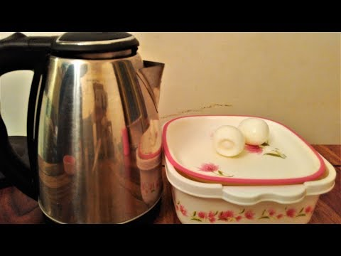 How to boil egg using electric kettle