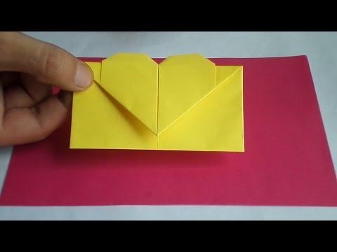 Оригами конверт с сердечком