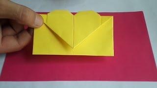 оригами конверт с сердечком, как сделать оригами конверт //  origami envelope(оригами конверт с сердцем, как сделать оригами конверт, оригами конверт сердечко, origami envelope with heart, how to make..., 2016-08-23T10:30:58.000Z)