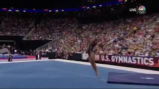 Simone Biles Super Slow Mo Shows tha Incredible Intracacy Of The Triple Double
