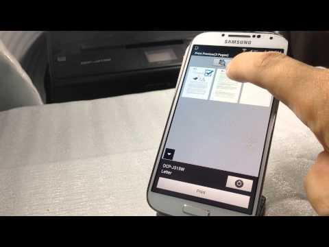 การสั่ง Print ของ Printer Brother ด้วย มือถือ หรือ Tablet