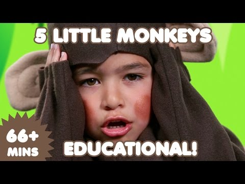 5 Little Monkeys | 60 Mins. of Educational Songs for Kids |