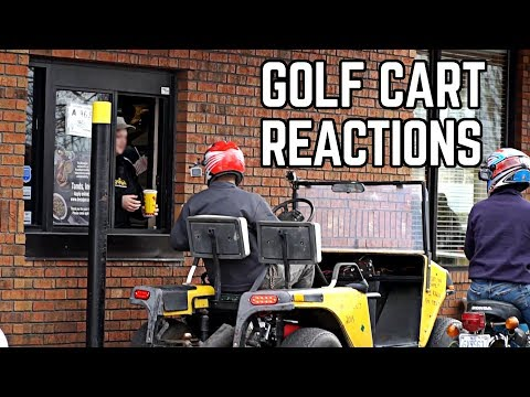 Street Legal Golf Cart Reactions | Drive Through, Parts Store!