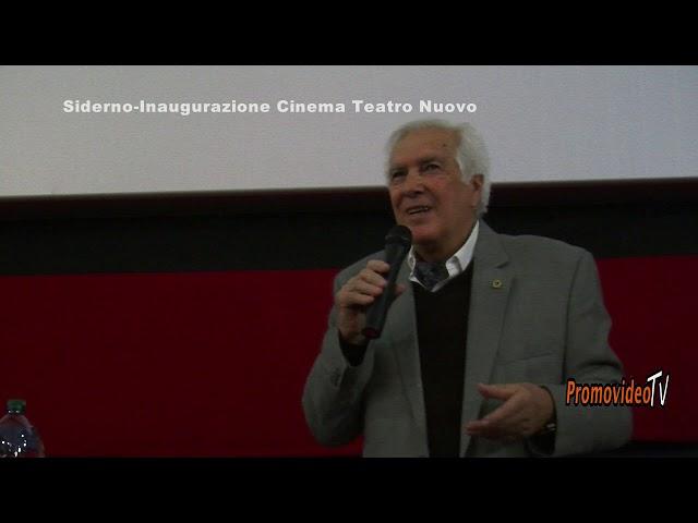 Siderno (R.C.) Inaugurazione Cinema Teatro Nuovo Siderno