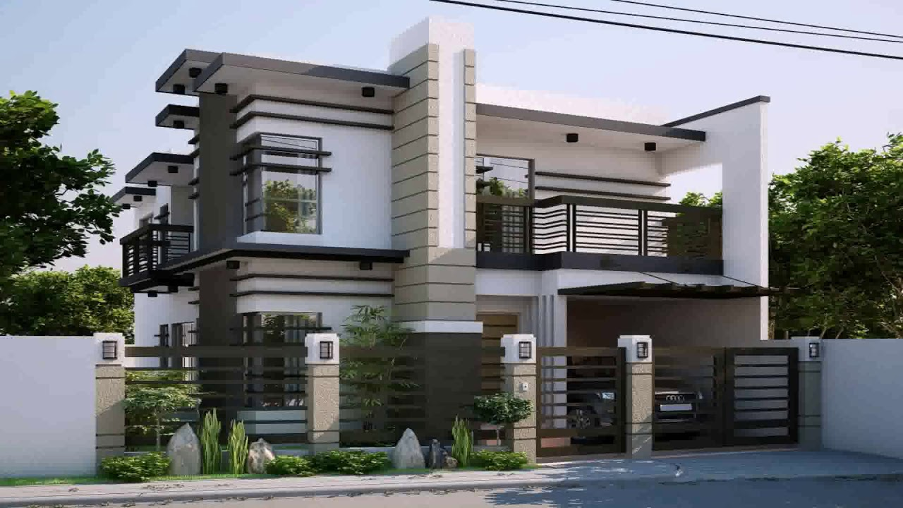 Modern zen house designs and floor plans philippines youtube for Apartment exterior design philippines