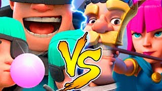 РАЗБОЙНИКИ ПРОТИВ РЫЦАРЯ И ЛУЧНИЦ | RASCALS VS KNIGHT AND ARCHERS | CLASH ROYALE