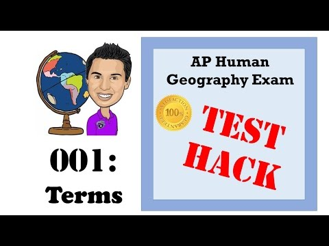 AP Human Geography Test Hacks - 001 Basic Terms