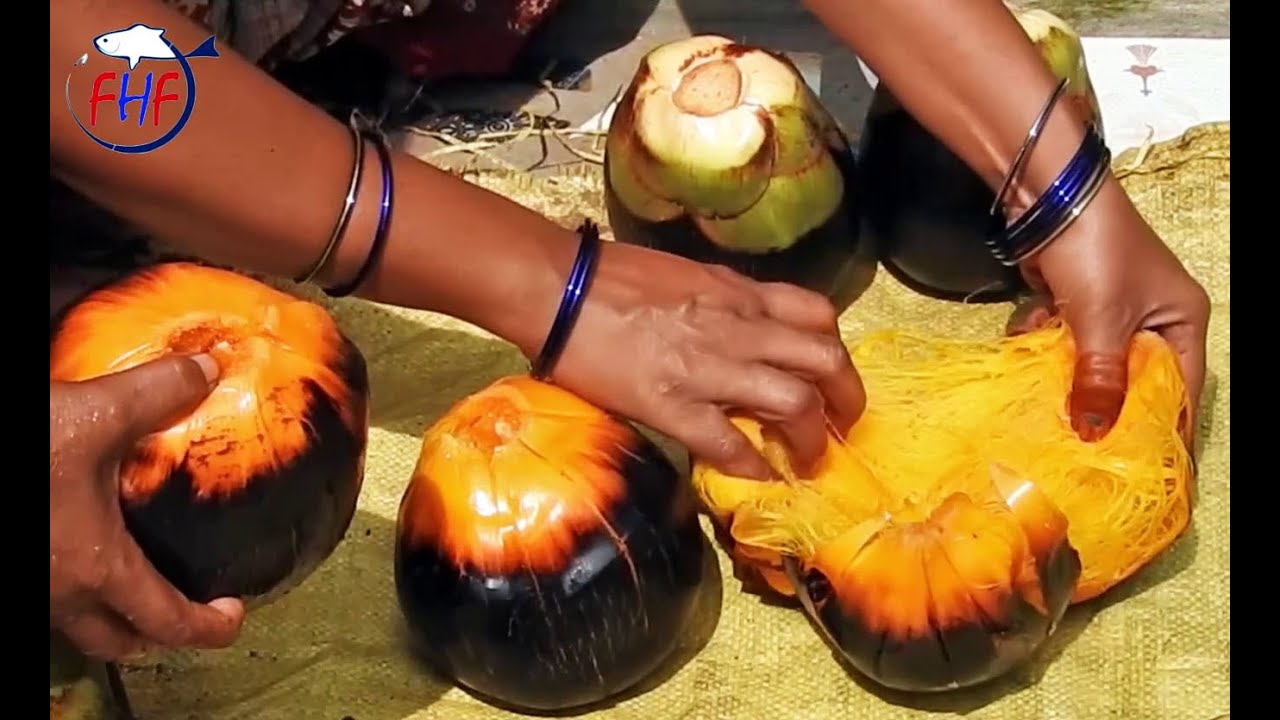 Toddy Palm Fruit recipe | Asian palmyra palm Fruit Juice Recipe | Sweet  Dishes From Ripe Palm Fruit