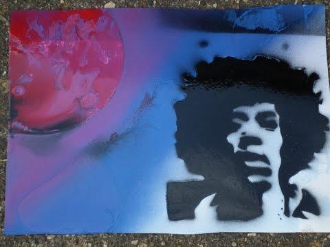 Spray Paint Art: Jimi Hendrix 🎨🎸