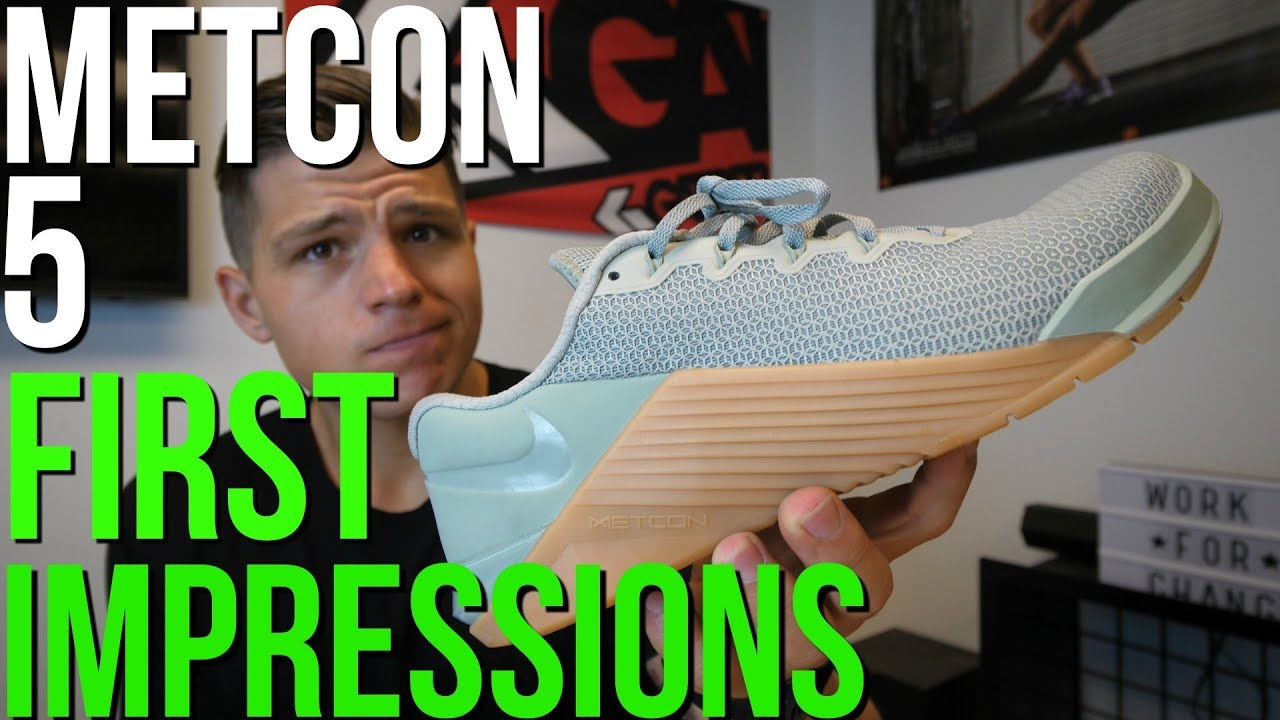 Cortar trapo Doctor en Filosofía  Nike Metcon 5 First Impressions (Best CrossFit Shoe Yet?) - YouTube