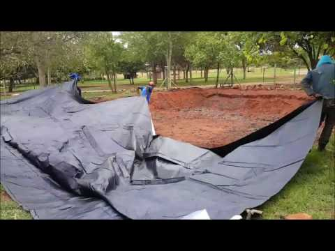 Earth dam installation