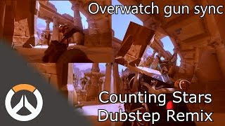 OVERWATCH GUN SYNC | COUNTING STARS DUBSTEP REMIX
